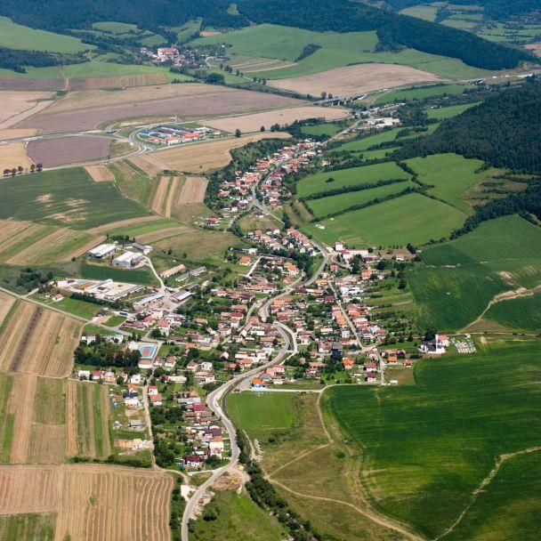 Letecké zábery obce
